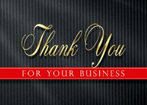 Pinstriped Thank You Card